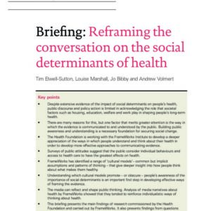 Briefing   Reframing the conversation on social determinants