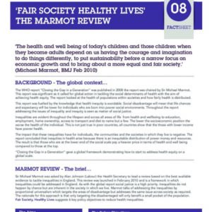Fair Society Healthy Lives   The Marmot Review