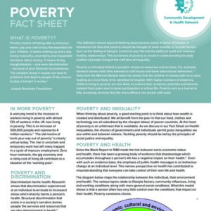 Poverty Fact Sheet