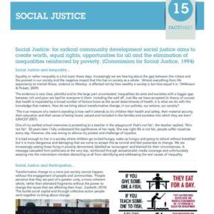 Social Justice Fact Sheet