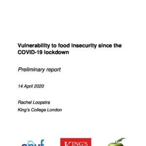 Vulnerability to Food Insecurity since COVID 19