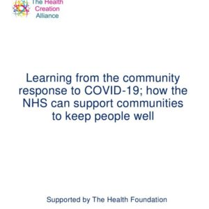THCA Report Community response to COVID 19 NHS learning FINAL  April 2021