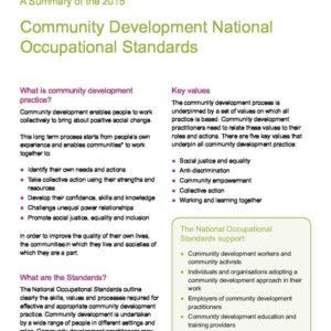 CDNOS Standards 2015 Summary